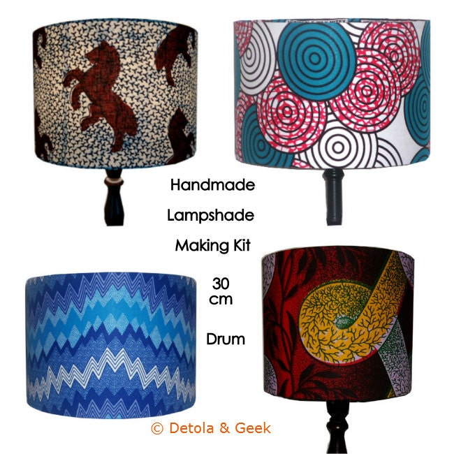 Lampshade Making Craft Kit Make Your Own Lampshade 30cm Drum