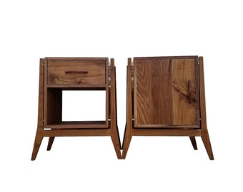Mid Century Modern End Tables & Nightstands With Storage