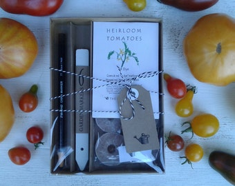 Heirloom Tomato garden gift, organic tomato seeds, tomato plants, gardening, organic seeds, gift for gardeners