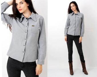 70s Wrangler Shirt / Vintage Wrangler / Wrangler Jacket / Western Shirt / Wrangler Women Shirt Size L