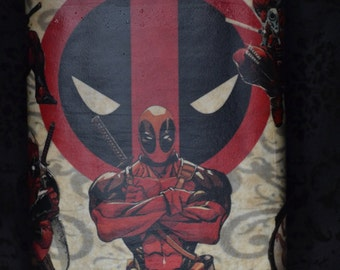 Stainless Steel Comic Book Flask - 8 oz ( Dead Pool or Wolverine)