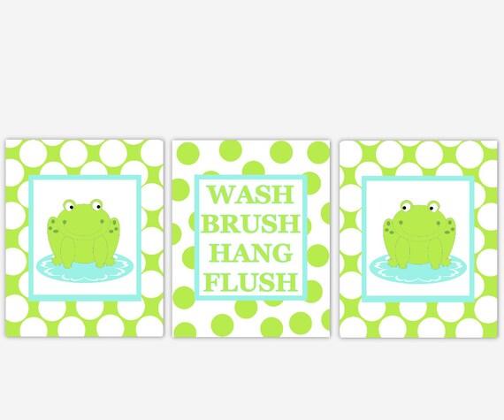 frog bath wall art lime green frog kids bathroom decor frog