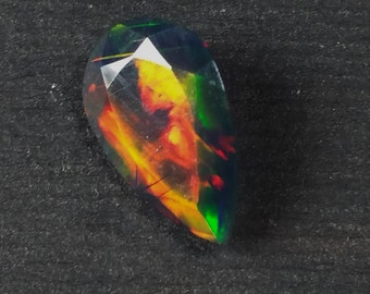 1.03 Ct Fire Opal, Faceted, Great Pattern and Great Color Display and Flash