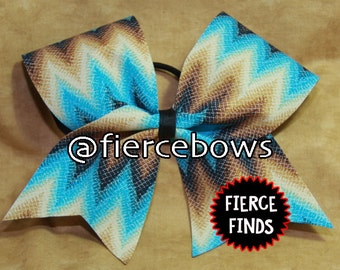 Southwest Chevron Cheer Bow