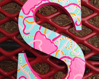 Lilly Pulitzer Inspired Hand Painted Single Letter