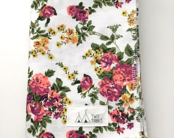 Floral Baby Swaddle Blanket