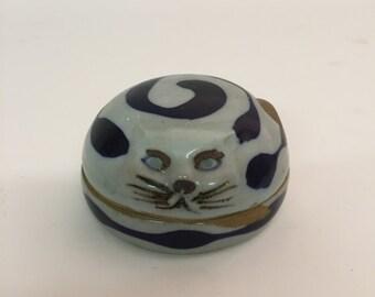 Lovely Takahashi Cat Keepsake Trinket Box 1960-70