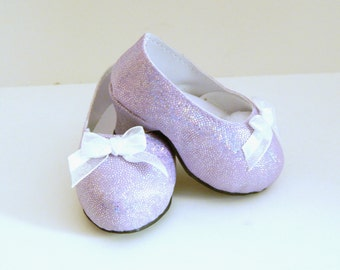 Lavender High Heels for 18 inch Doll - Sparkly Doll Shoes - Doll Shoes - High Heels for Dolls - Doll Accessories