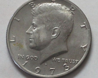 1973 D Kennedy Half Dollar Coin - sku 514