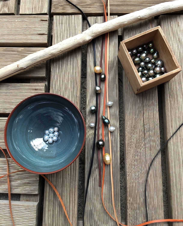 Australian Leather and Tahitian Pearls, Australian Pearls