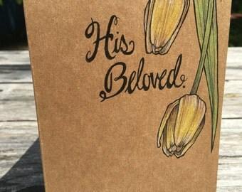 His Beloved - Hand Drawn Greeting Card
