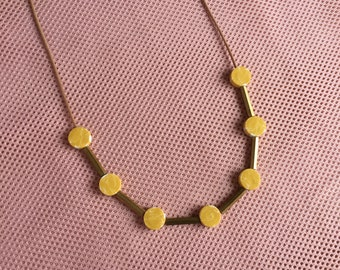 Disc Necklace // Yellow