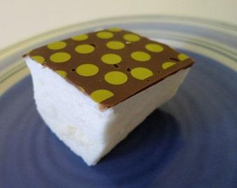 Yellow Polka Dot Marshmallows  - 1 dozen fair trade Gourmet homemade - polkadots