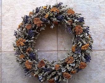Dried Herb Wreath -  Kitchen Herb Wreath  - Hanging Wreath - Year Round Wreath