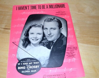 Vintage Sheet Music By Bing Crosby With Gloria Jean 1940