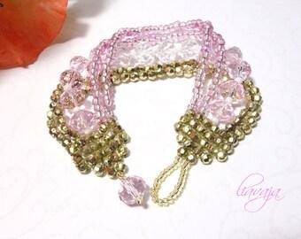 Bracelet pink gold bracelet