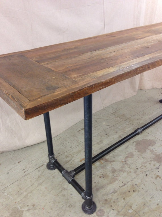 Reclaimed wood dining table industrial 8 ft x by  : il570xN858257118k5gq from www.etsy.com size 570 x 760 jpeg 81kB