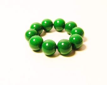 D-00960 - 10 Glass beads 8mm Dark Green