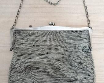 Vintage chain mail/mesh purse