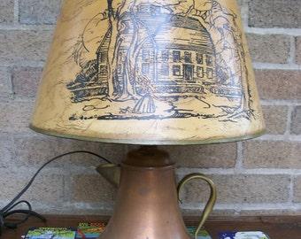 Antique / Vintage Copper Teapot Lamp / Works