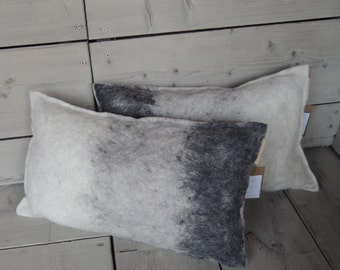 Unique pillow (wool felt) E