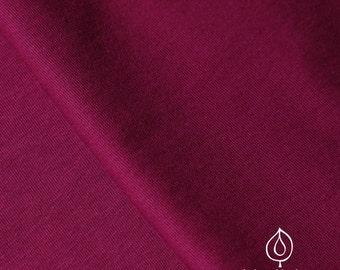 50cm Single Jersey organic cotton burgundy