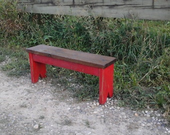 Rustic Wood Garden Bench / Country Bench / Cottage Bench