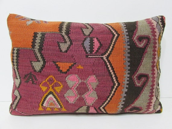 16x24 Kilim Pillow Modern Pillow Tapestry By