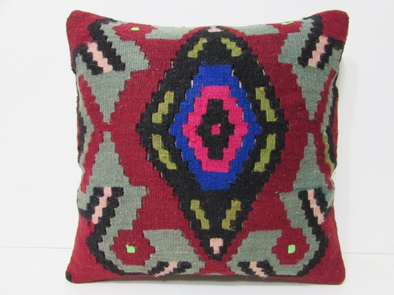 20x20 kilim pillow mid century interior by DECOLICKILIMPILLOWS