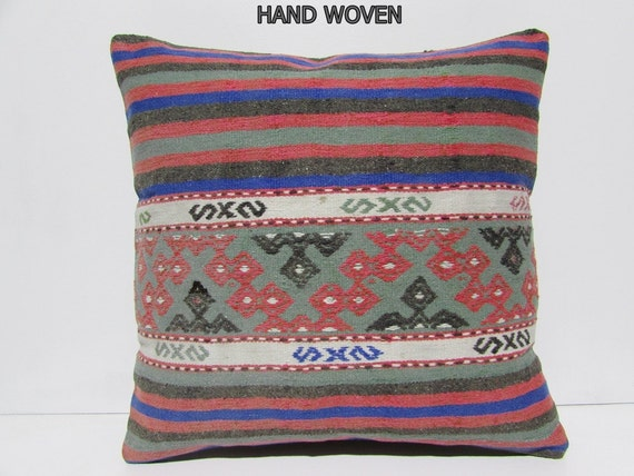 kilim pillow 24x24 big pillow case large throw pillow 24x24