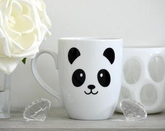 Panda Mug, Panda Bear Mug, Panda Face, Custom Coffee Mug, Funny Coffee Mug, Panda Cup, Face Coffee Mug, Funny Mug, Panda Lover