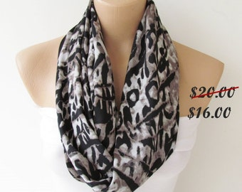 Infinity Loop Scarf-Circle Scarf -Leopard Patterned-Shawl Scarf-Cowl Scarf-Tube Scarf-Spring Accessories-Mother's Day Gift