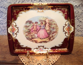 Daher Decorated Small Metal Tray England