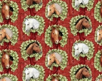Horses Cotton Fabric by Springs Creative! [Choose Your Cut Size]