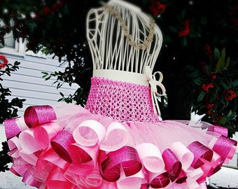 Ribbon Tutu for Portraits, Birthday, Weddings, Special Occasions