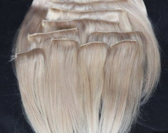 Cool Pale Blonde Extensions 10""