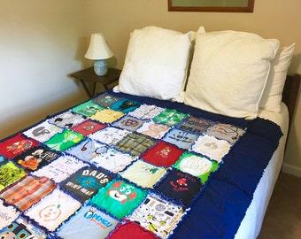 Custom Baby Clothes Quilt, Baby Clothes Quilt, BabyTshirt Blanket, Keepsake Memory Baby Blanket