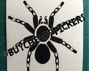 Tarantula Spider #2 Decal - Sticker 3x3 Any Color