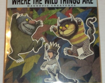 """Vintage """"Where the Wild Things Are"""" Magnets"""