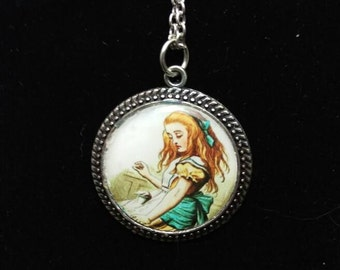 Vintage inspired Alice in Wonderland necklace