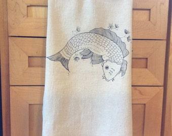 Koi Tea Towel
