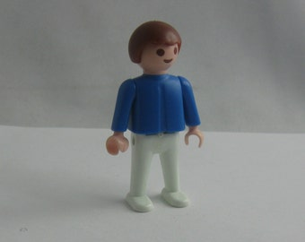 1981: Boy. Enchanting PLAYMOBIL / geobra figure. Marked © 1981 geobra. VINTAGE