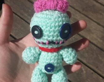 Mini scrump doll lilo and stitch amigurumi under 15 gift