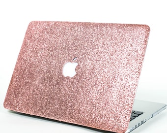 ROSE GOLD- Glitter Macbook Hard Case for Macbook Air,  Macbook Pro, + Macbook Pro with Retina Display