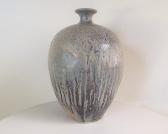 Modern Studio Pottery Drip Glaze Weed Vase