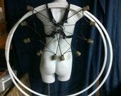 Stitched Leather Fire Fan X Harness (Small-Medium)