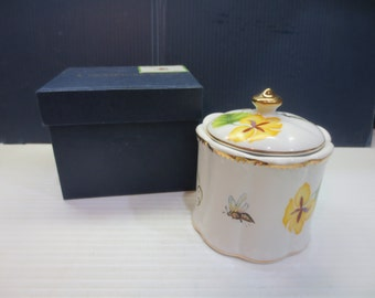 "Rare I Godinger & Co. Tivoli Pattern 4"" China Canister #4589 New In Box"