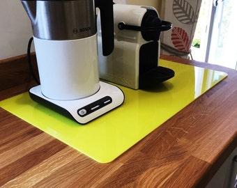 Rectangle Worktop Saver in Yellow Acrylic - 3 Sizes Available