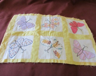 Vintage Butterfly Quilt Square
