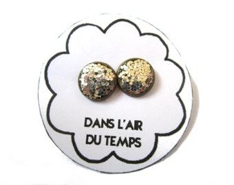 Glitter earrings, glitter stud earrings, silver glitter stud, glitter posts earrings, sparkly jewelry, silver stud, resin , glitter jewelry